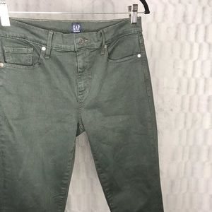GAP Olive Green Sculpt True Skinny Jeans